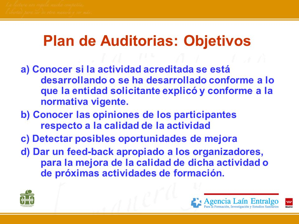 Plan de Auditorias: Objetivos