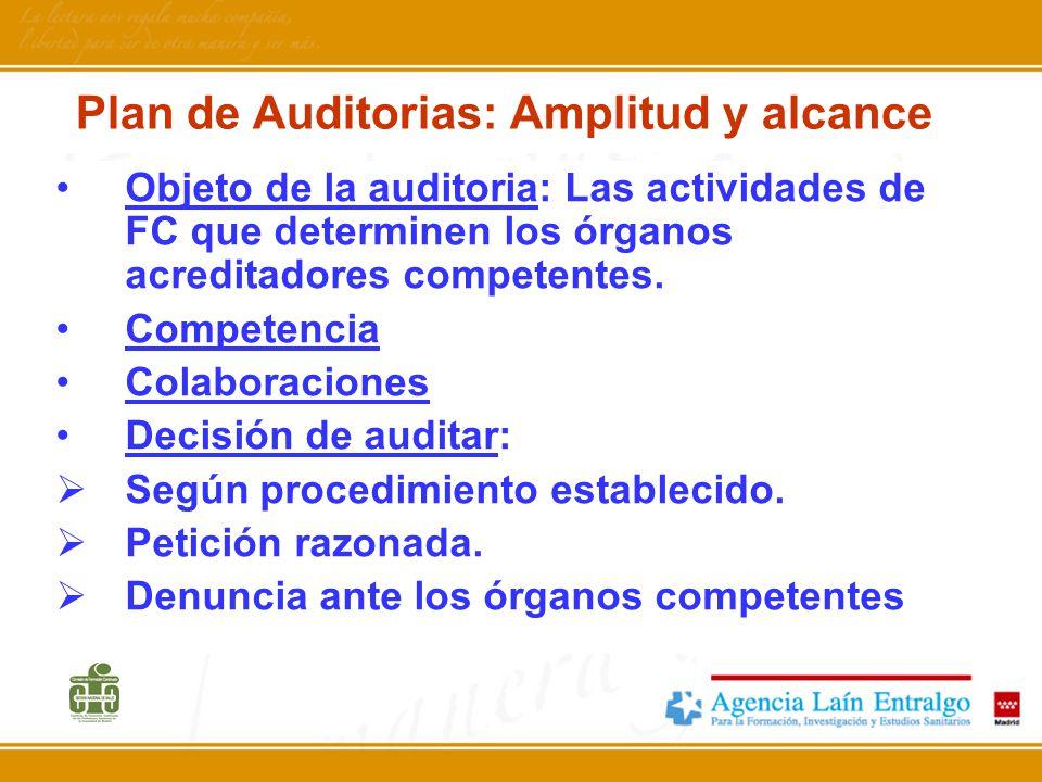 Plan de Auditorias: Amplitud y alcance
