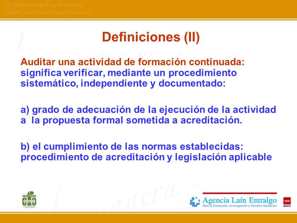 Definiciones (II)