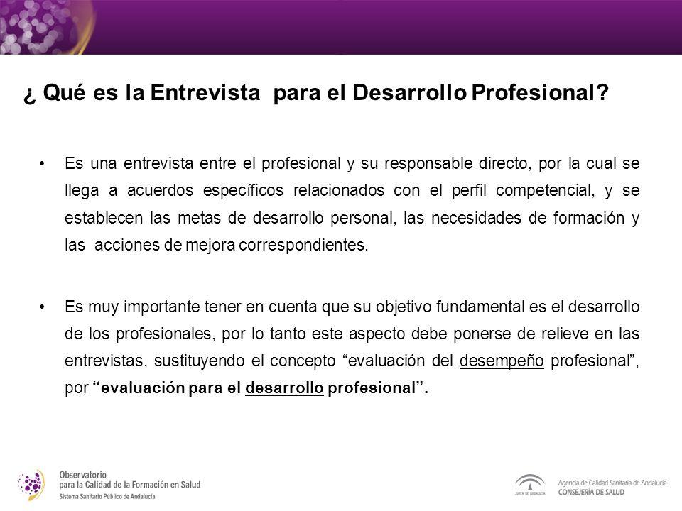 ¿ Qué es la Entrevista para el Desarrollo Profesional
