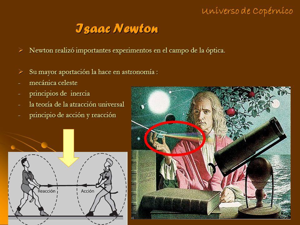 Isaac Newton Universo de Copérnico