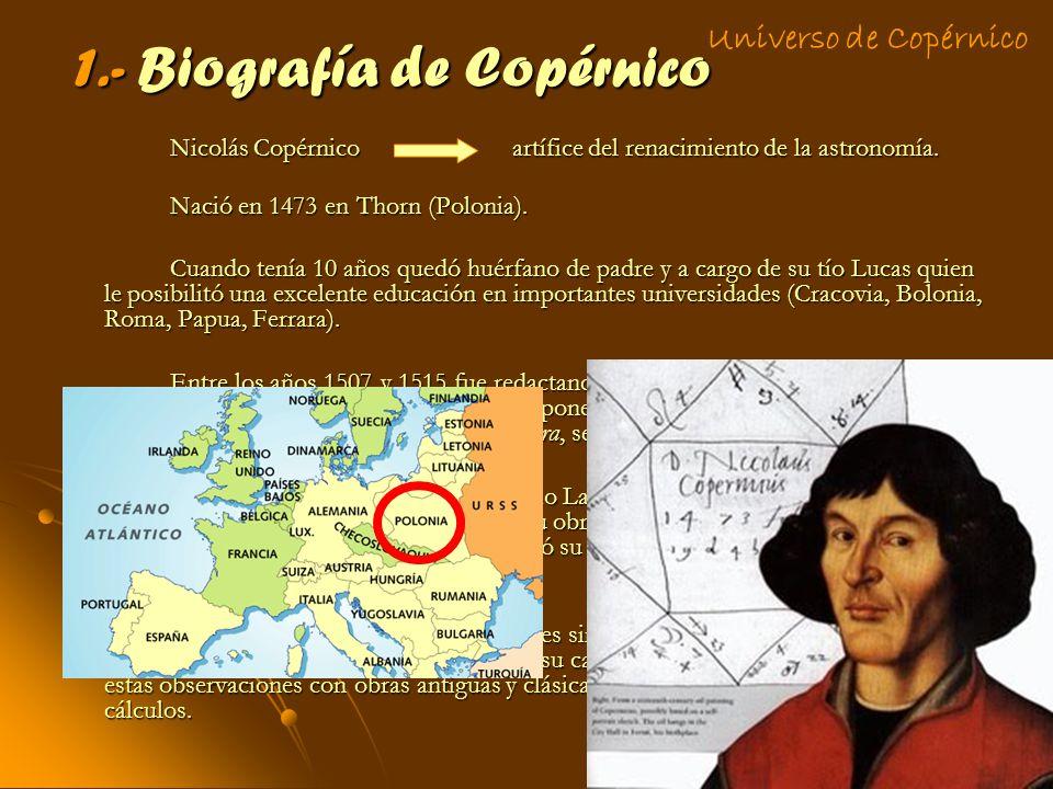 1.- Biografía de Copérnico