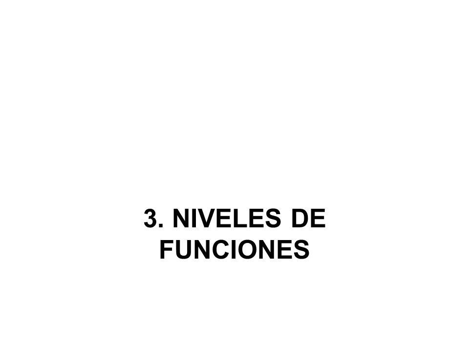 3. NIVELES DE FUNCIONES