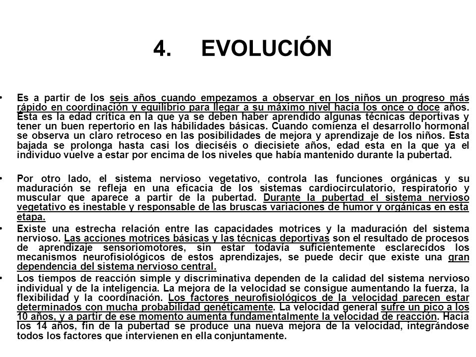 4. EVOLUCIÓN