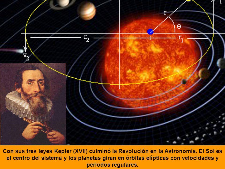 Con sus tres leyes Kepler (XVII) culminó la Revolución en la Astronomía.