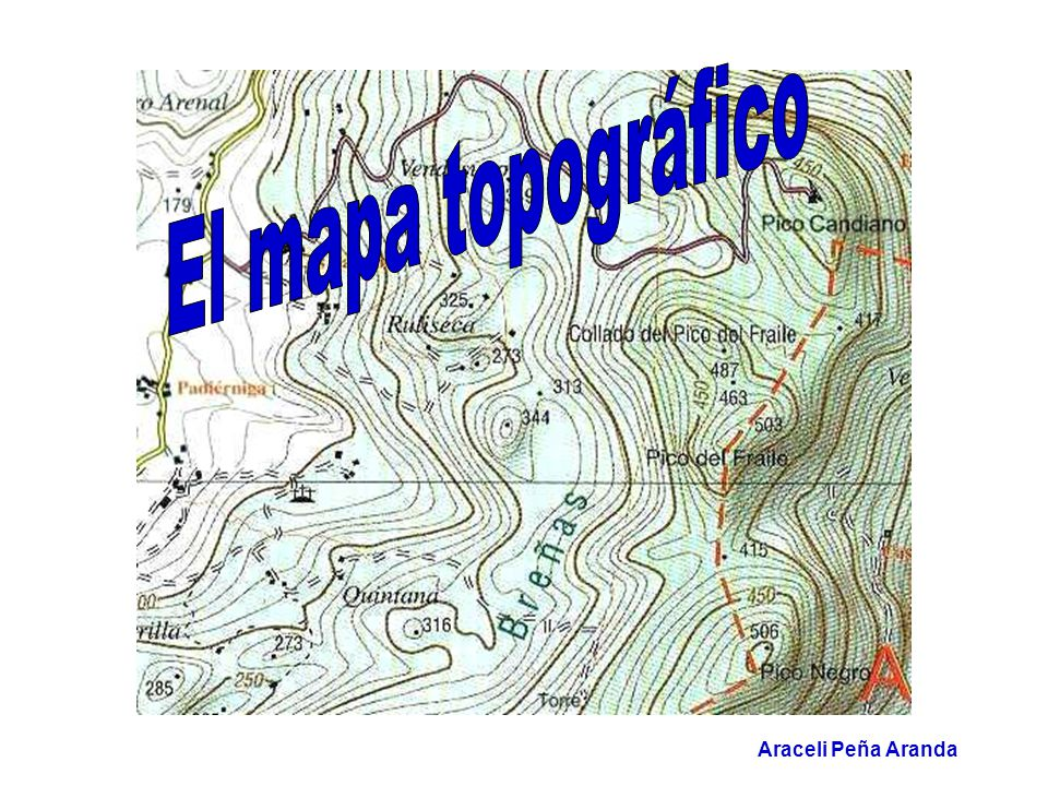 El Mapa Topografico Araceli Pena Aranda Ppt Video Online Descargar