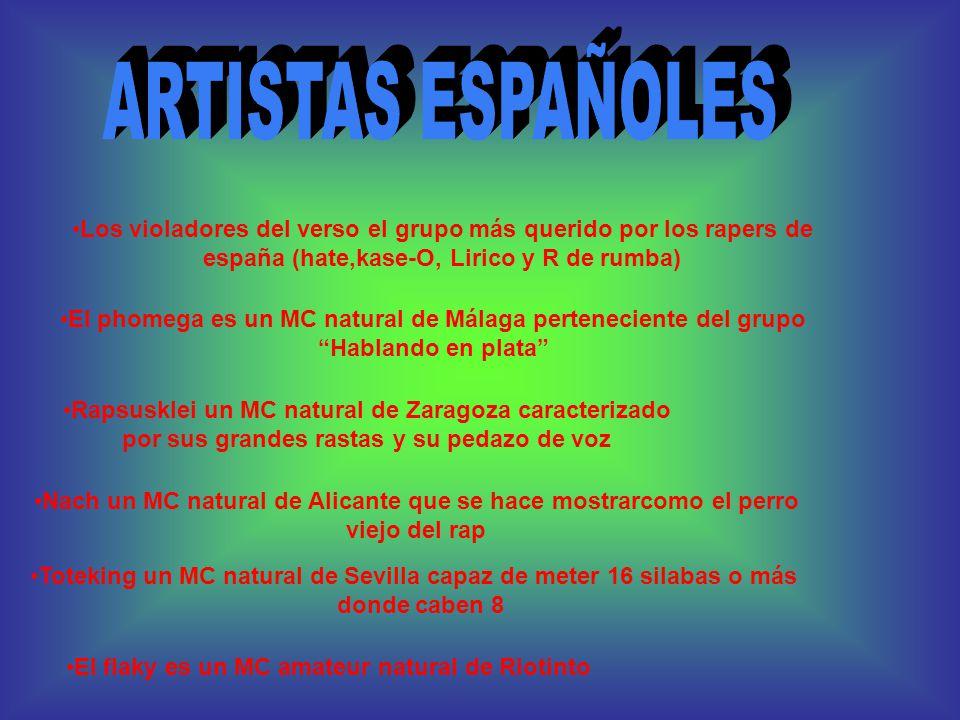 ARTISTAS ESPAÑOLES Los violadores del verso el grupo más querido por los rapers de españa (hate,kase-O, Lirico y R de rumba)