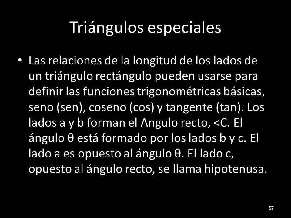 Triángulos especiales