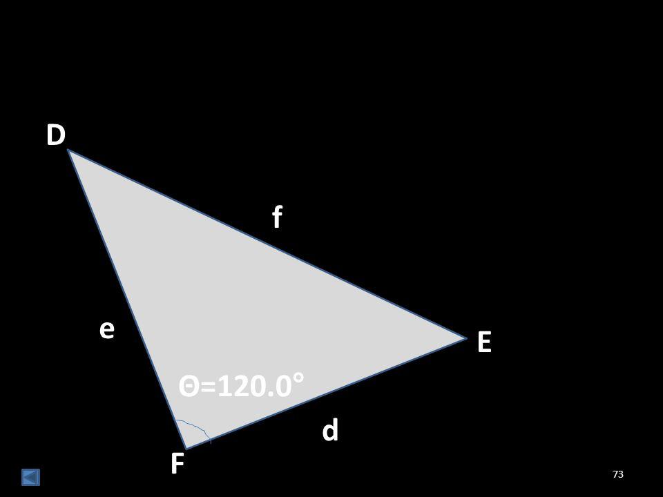 D f e E Θ=120.0° d F
