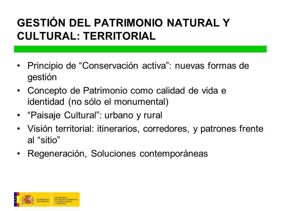 GESTIÓN DEL PATRIMONIO NATURAL Y CULTURAL: TERRITORIAL