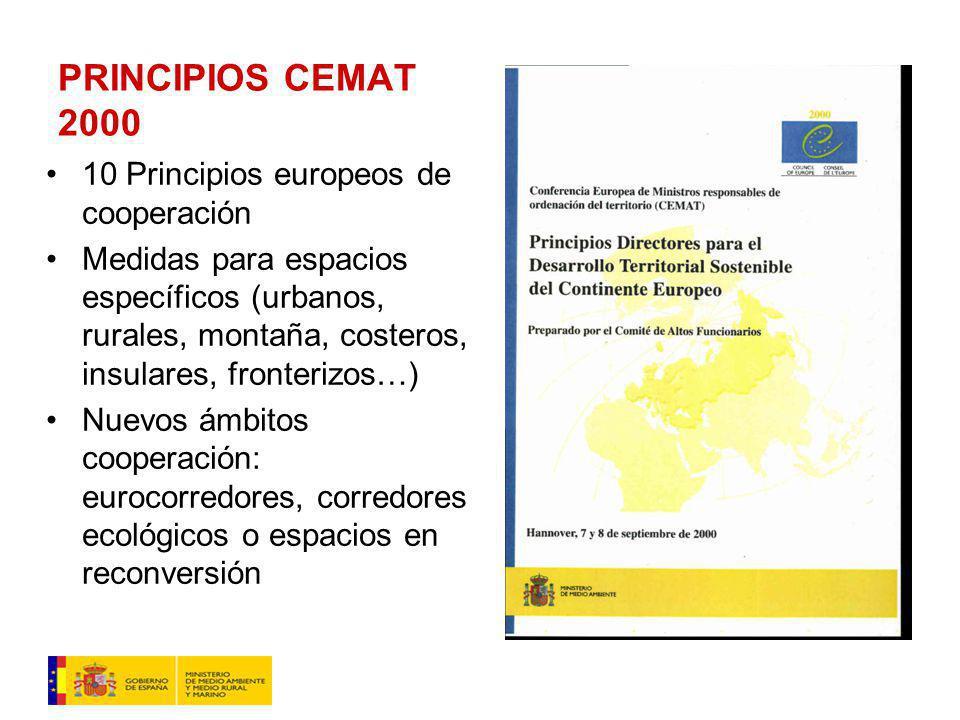PRINCIPIOS CEMAT 2000 10 Principios europeos de cooperación