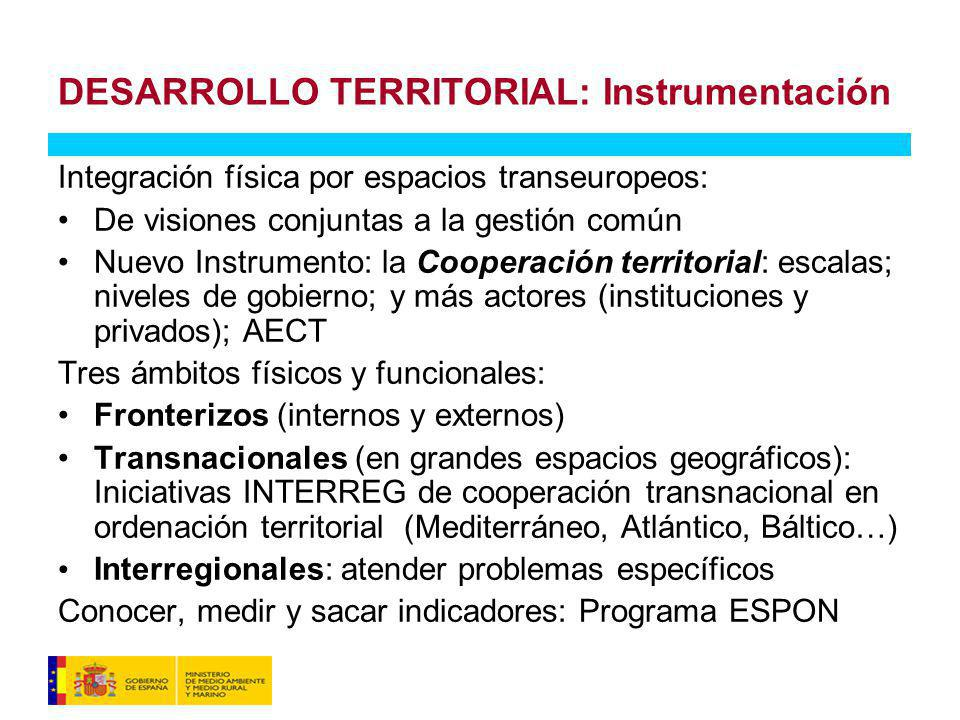 DESARROLLO TERRITORIAL: Instrumentación