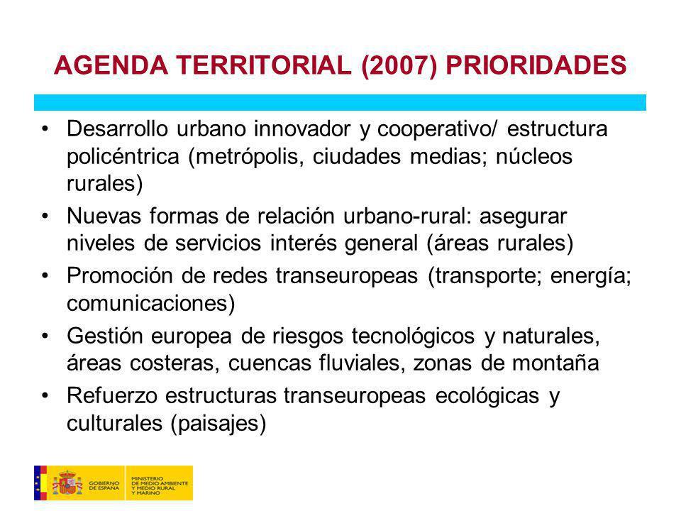 AGENDA TERRITORIAL (2007) PRIORIDADES