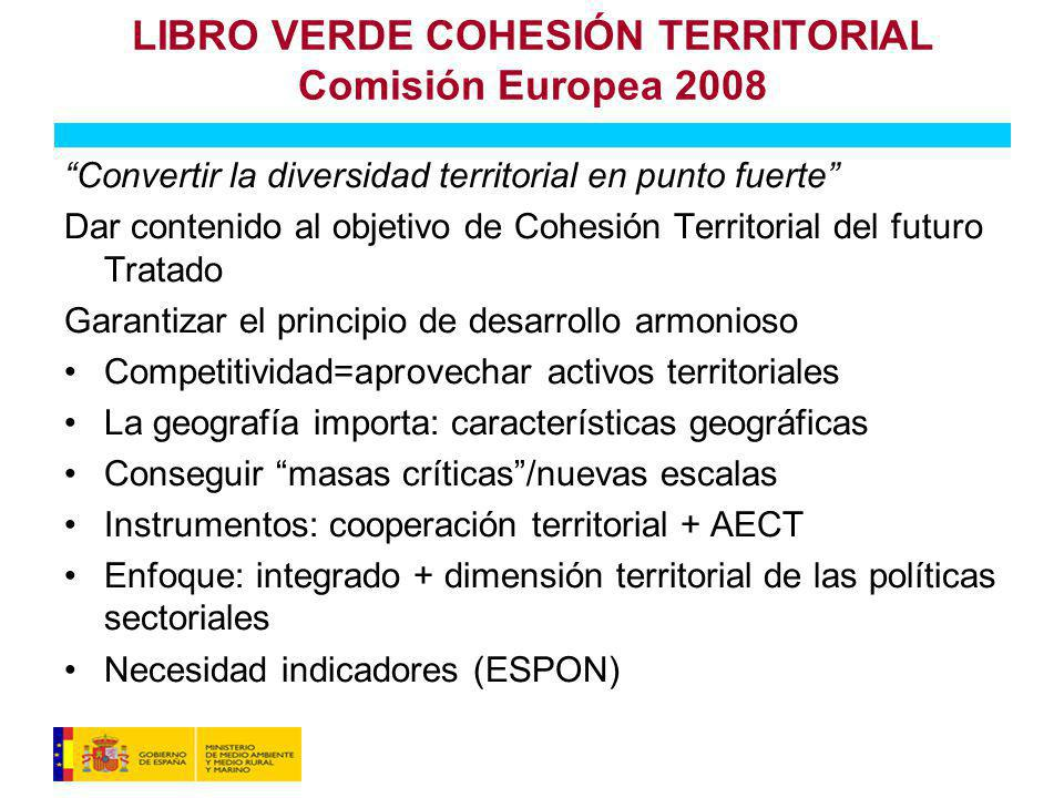 LIBRO VERDE COHESIÓN TERRITORIAL Comisión Europea 2008