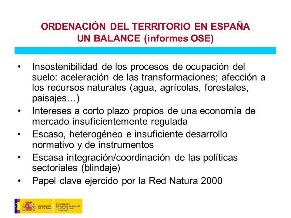 ORDENACIÓN DEL TERRITORIO EN ESPAÑA UN BALANCE (informes OSE)