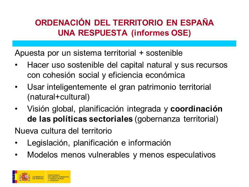 ORDENACIÓN DEL TERRITORIO EN ESPAÑA UNA RESPUESTA (informes OSE)