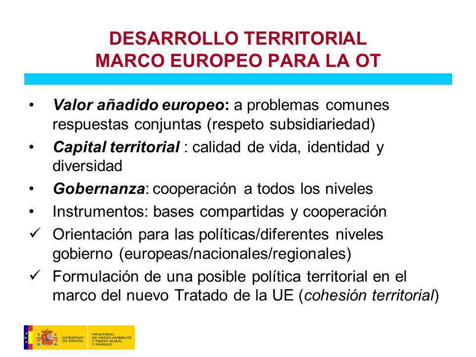 DESARROLLO TERRITORIAL MARCO EUROPEO PARA LA OT