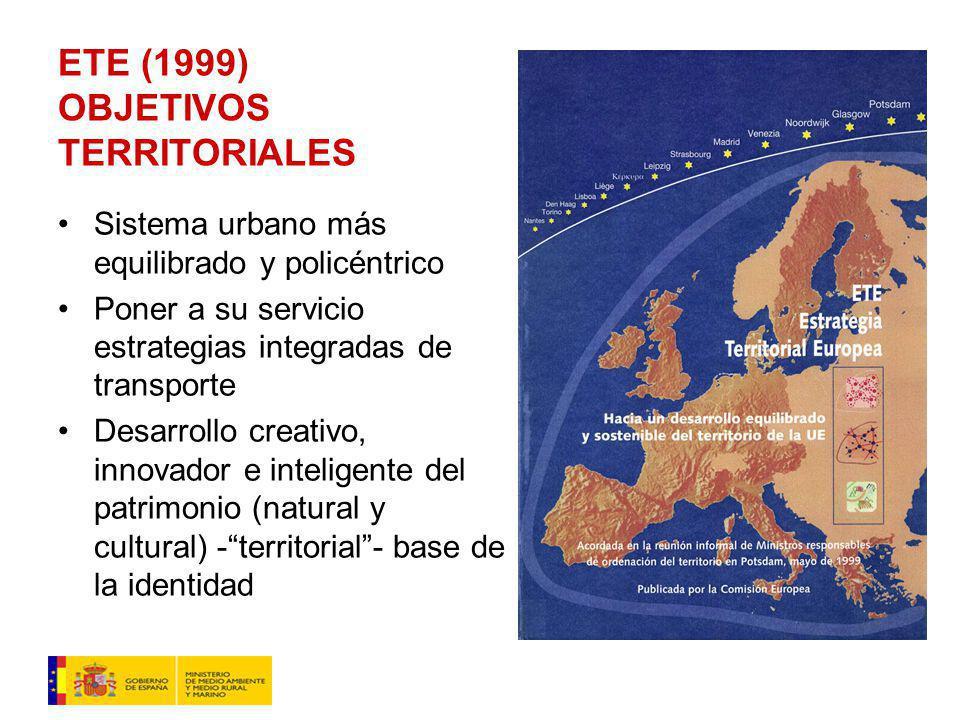 ETE (1999) OBJETIVOS TERRITORIALES