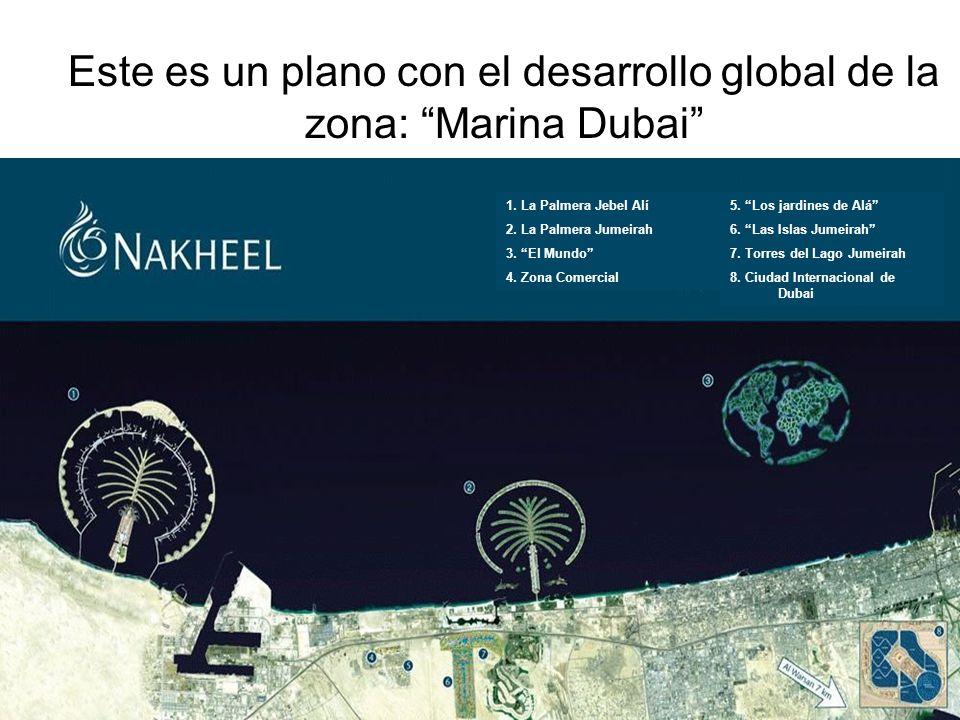 Este es un plano con el desarrollo global de la zona: Marina Dubai