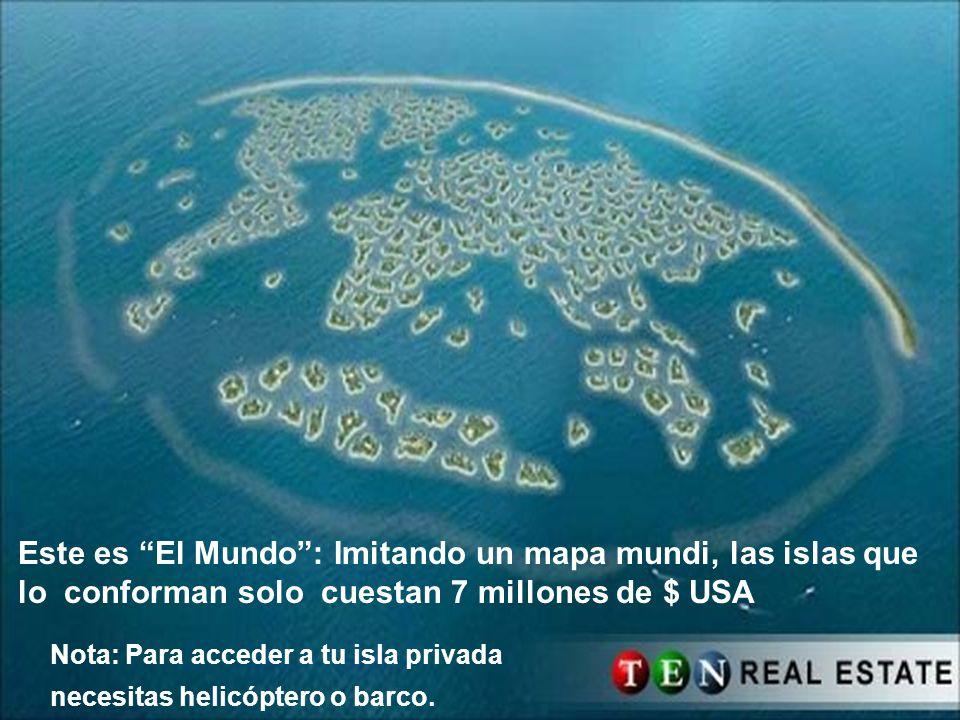 Este es El Mundo : Imitando un mapa mundi, las islas que lo conforman solo cuestan 7 millones de $ USA