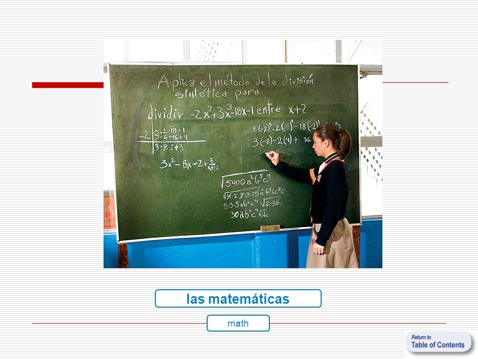 las matemáticas math