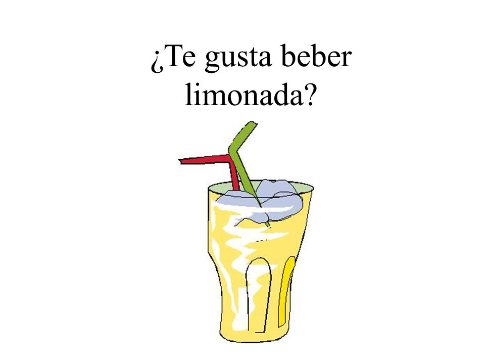 ¿Te gusta beber limonada