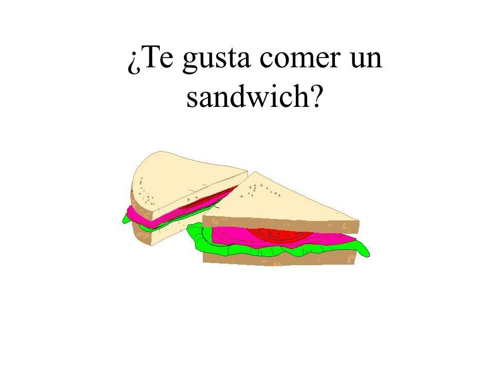 ¿Te gusta comer un sandwich