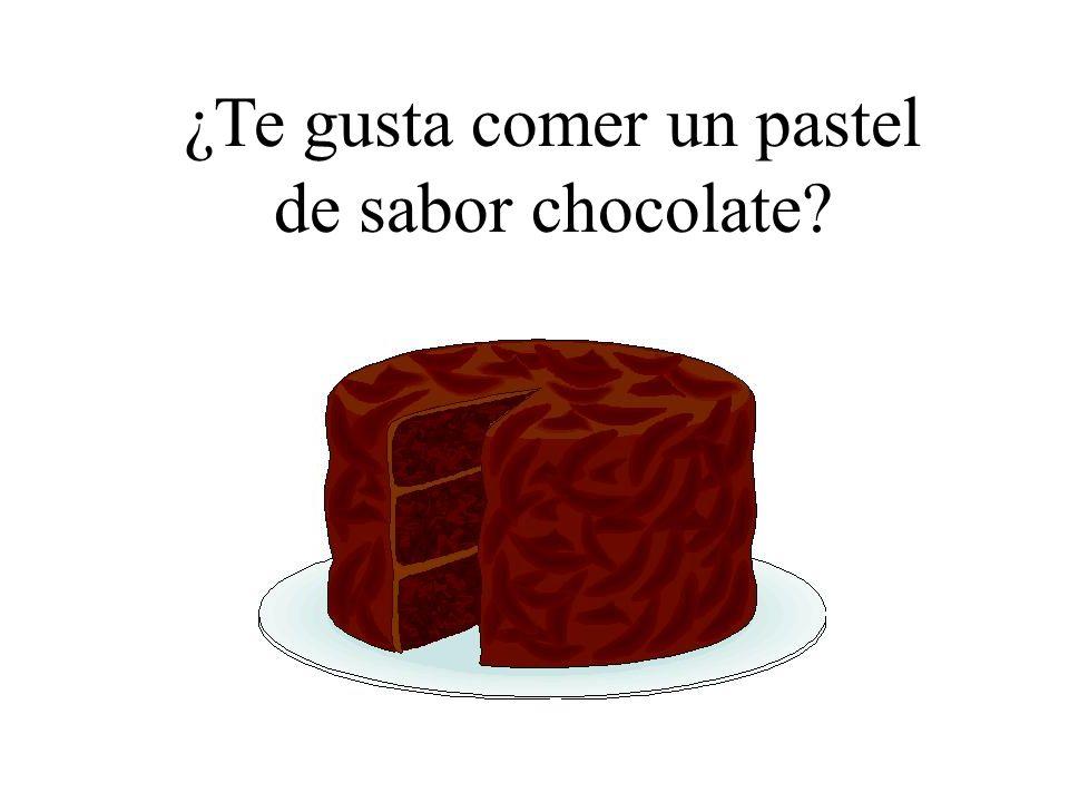¿Te gusta comer un pastel de sabor chocolate