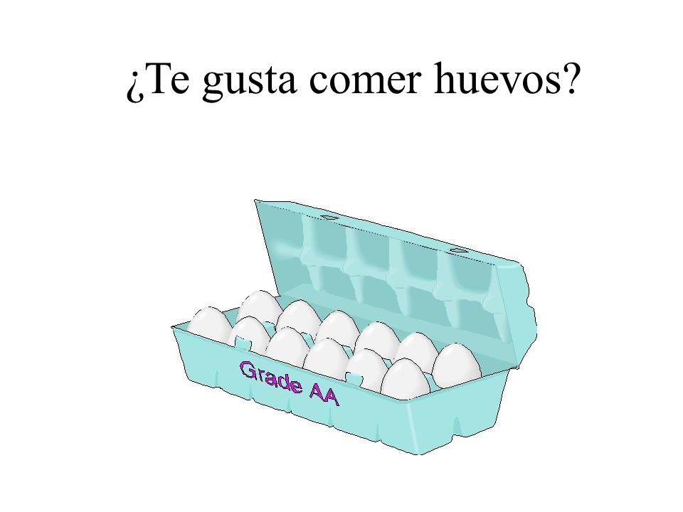 ¿Te gusta comer huevos