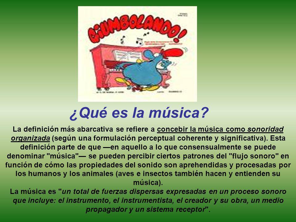 ¿Qué es la música