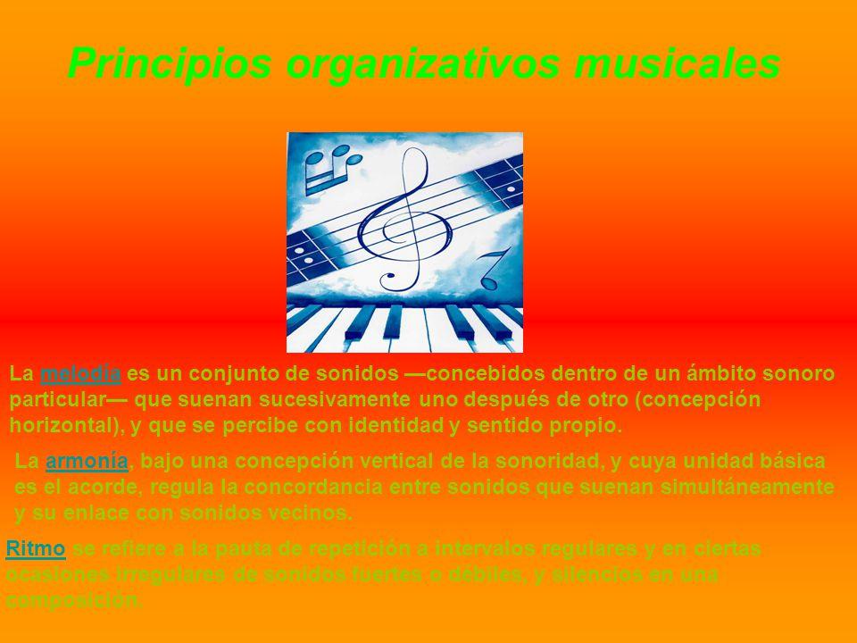 Principios organizativos musicales
