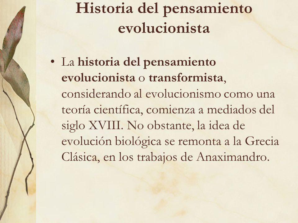 Historia del pensamiento evolucionista
