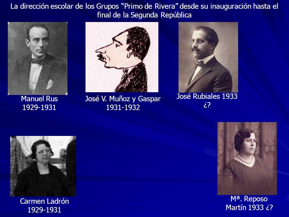La dirección escolar de los Grupos Primo de Rivera desde su inauguración hasta el final de la Segunda República