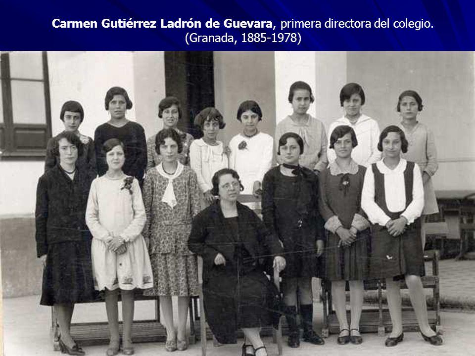 Carmen Gutiérrez Ladrón de Guevara, primera directora del colegio