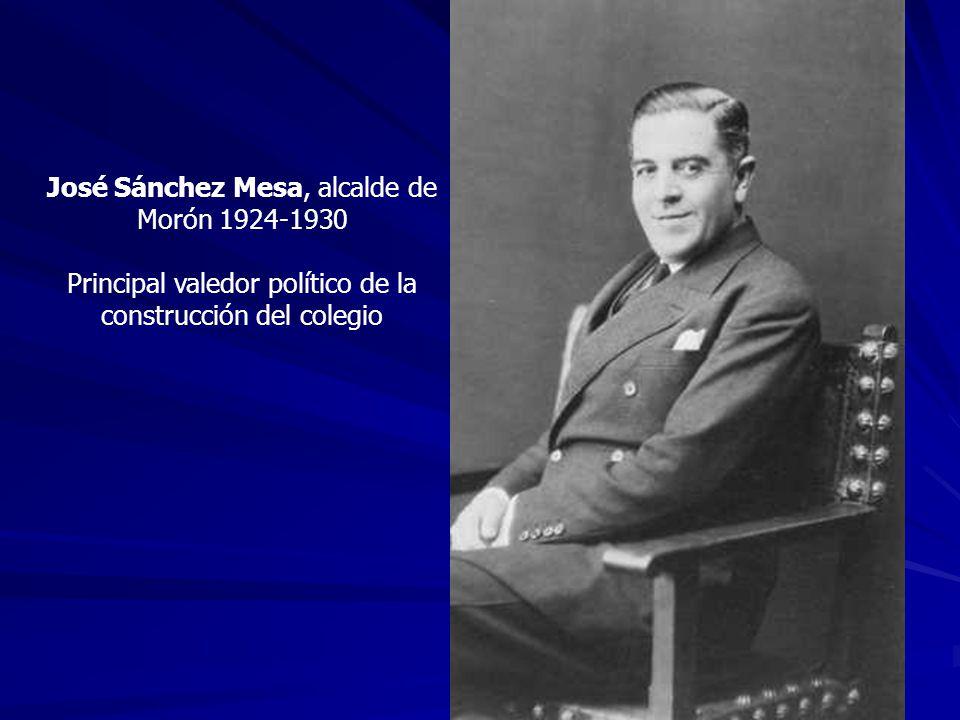 José Sánchez Mesa, alcalde de Morón 1924-1930