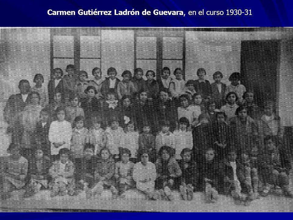 Carmen Gutiérrez Ladrón de Guevara, en el curso 1930-31