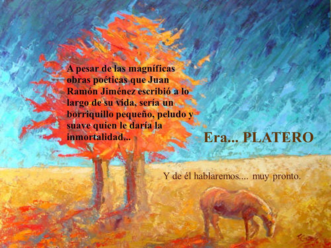 A pesar de las magníficas obras poéticas que Juan Ramón Jiménez escribió a lo largo de su vida, sería un borriquillo pequeño, peludo y suave quien le daría la inmortalidad...