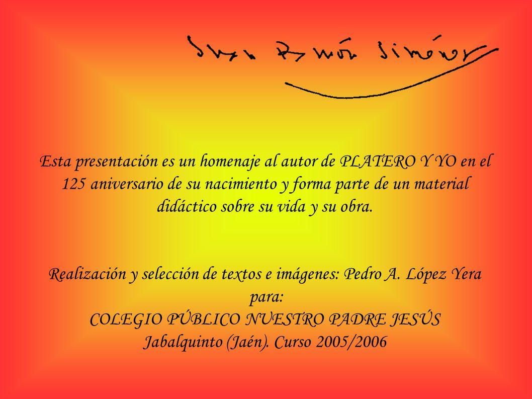 Realización y selección de textos e imágenes: Pedro A. López Yera