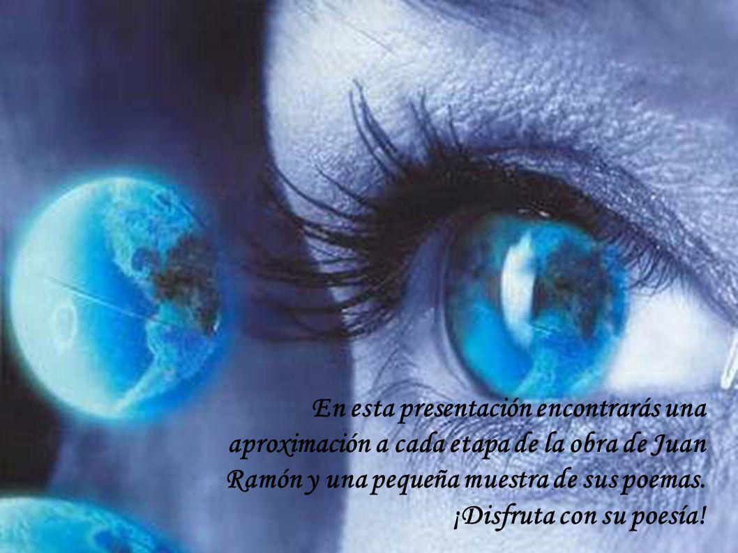 En esta presentación encontrarás una aproximación a cada etapa de la obra de Juan Ramón y una pequeña muestra de sus poemas.