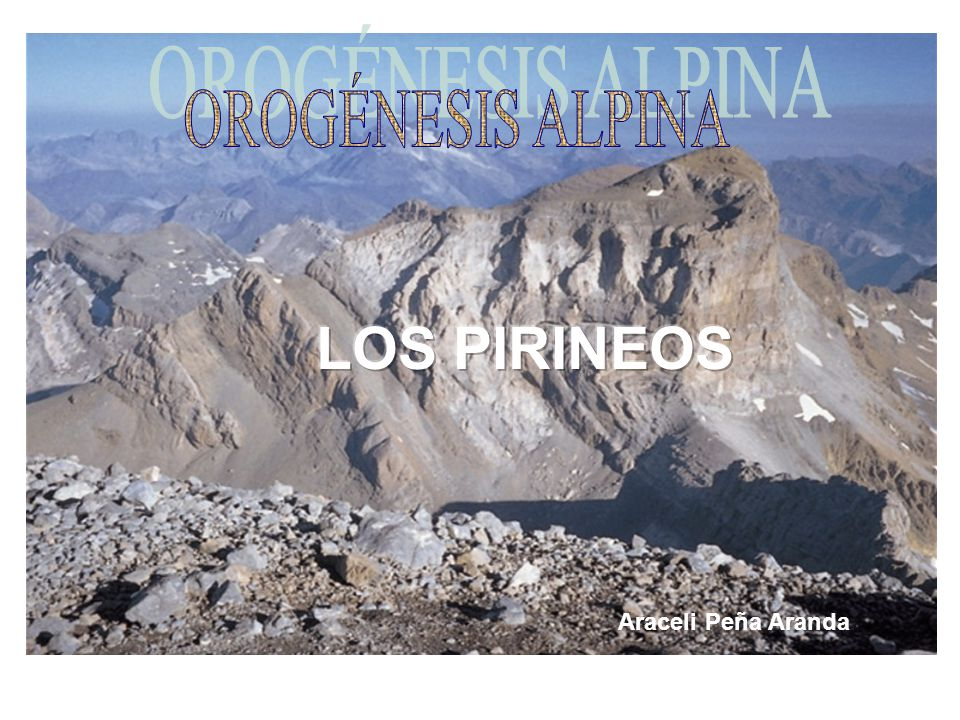 OROGÉNESIS ALPINA LOS PIRINEOS Araceli Peña Aranda