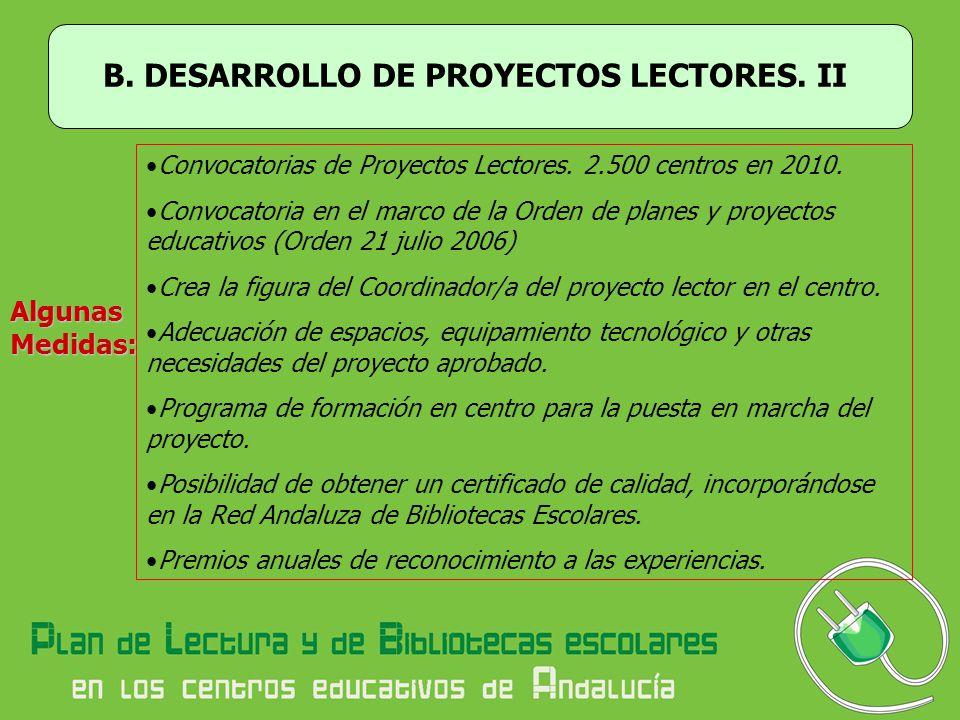 B. DESARROLLO DE PROYECTOS LECTORES. II