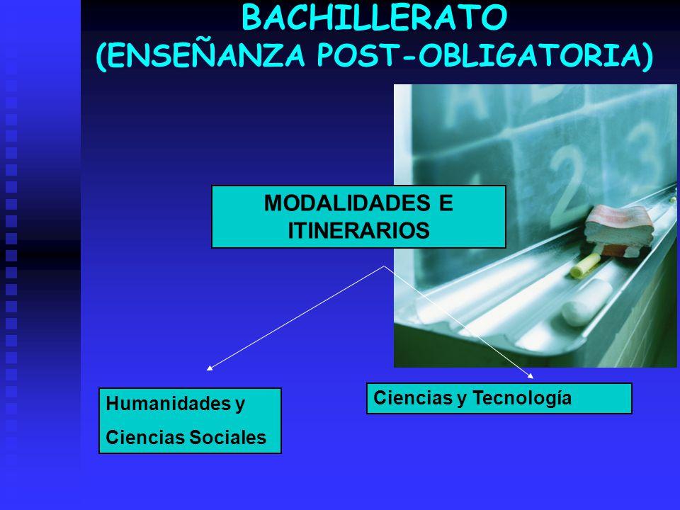 BACHILLERATO (ENSEÑANZA POST-OBLIGATORIA)