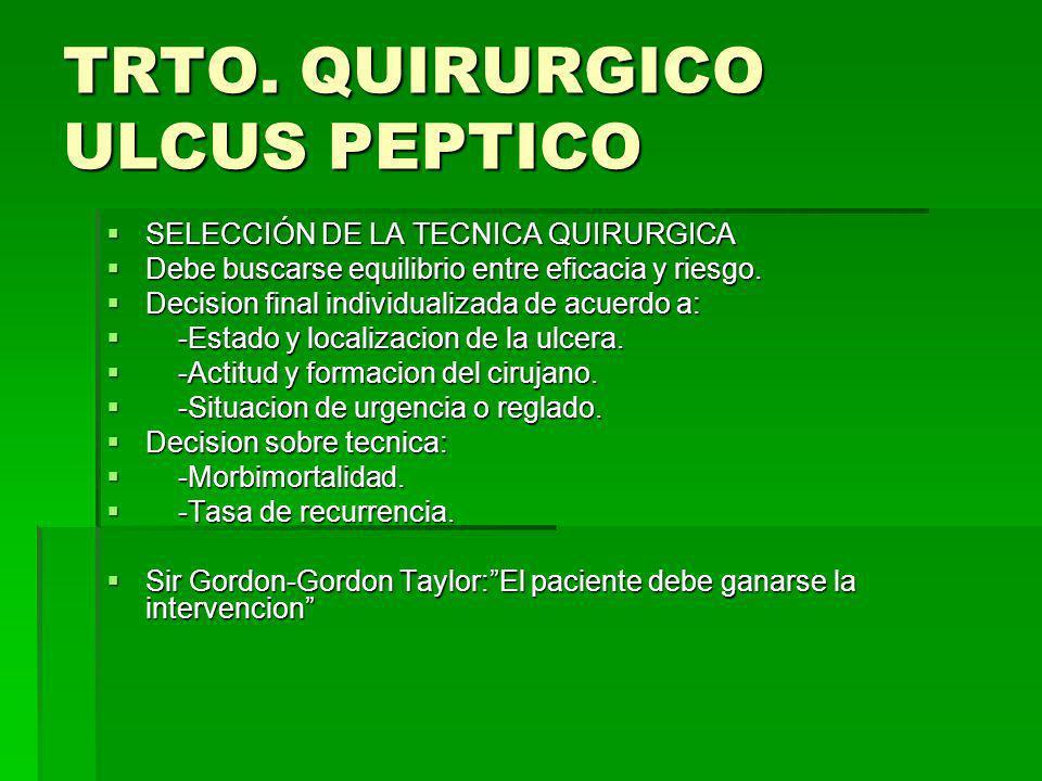 TRTO. QUIRURGICO ULCUS PEPTICO