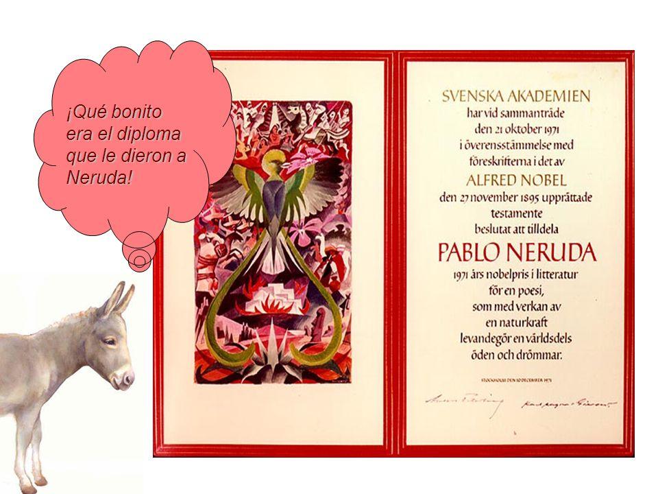 ¡Qué bonito era el diploma que le dieron a Neruda!