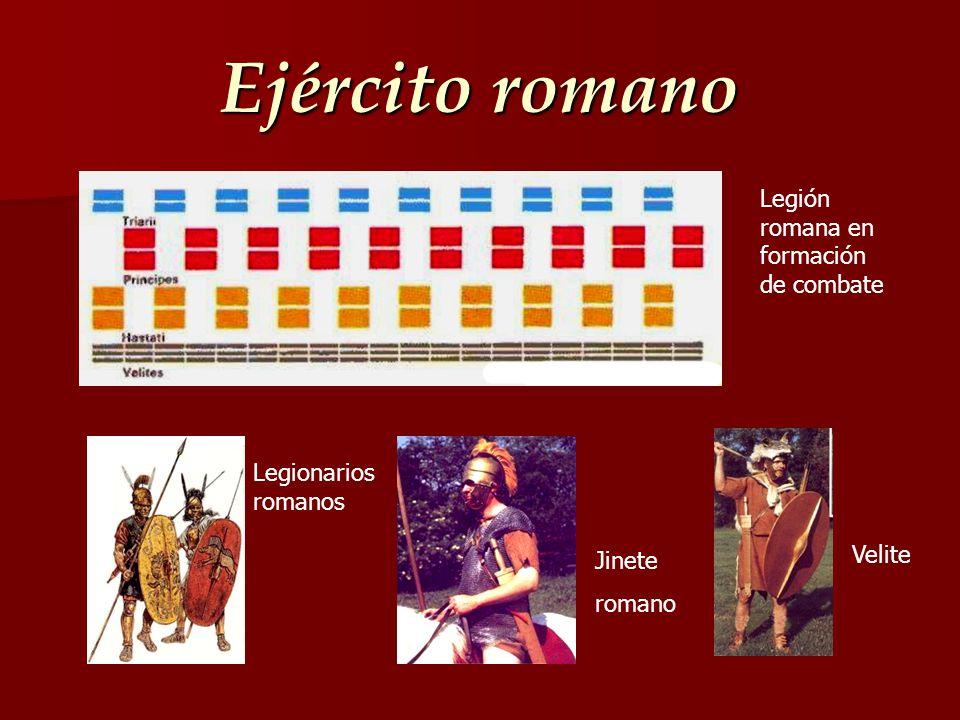 Ejército romano Legión romana en formación de combate