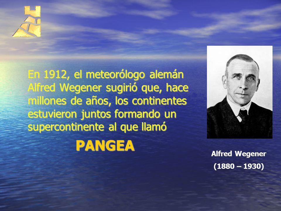 En 1912, el meteorólogo alemán Alfred Wegener sugirió que, hace millones de años, los continentes estuvieron juntos formando un supercontinente al que llamó