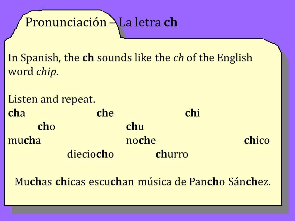 Muchas chicas escuchan música de Pancho Sánchez.