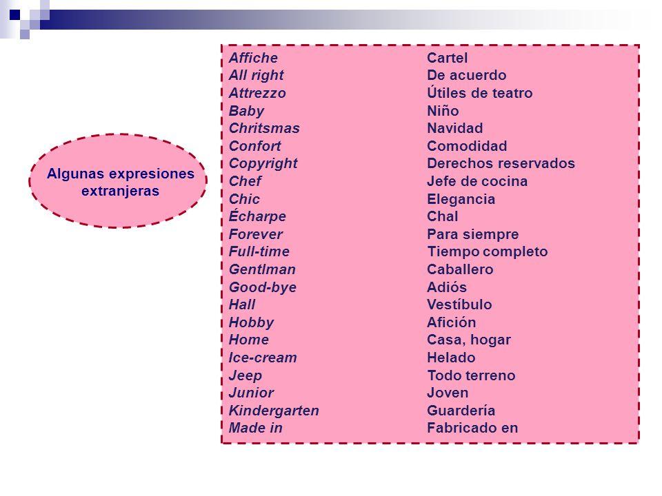 Algunas expresiones extranjeras