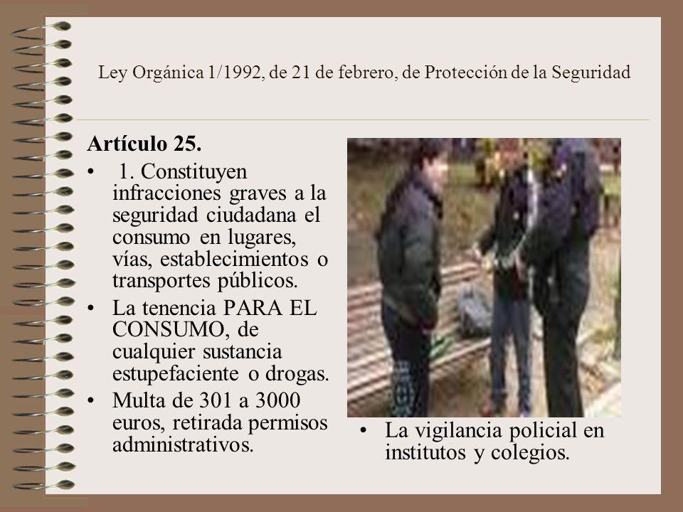 Ley Orgánica 1/1992, de 21 de febrero, de Protección de la Seguridad