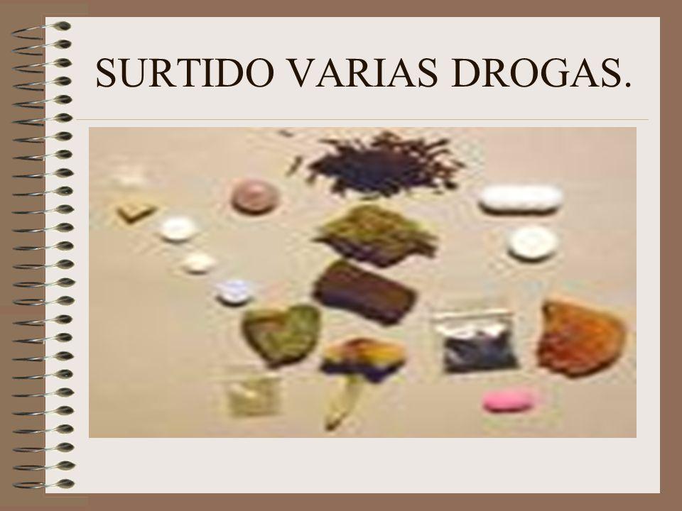 SURTIDO VARIAS DROGAS.
